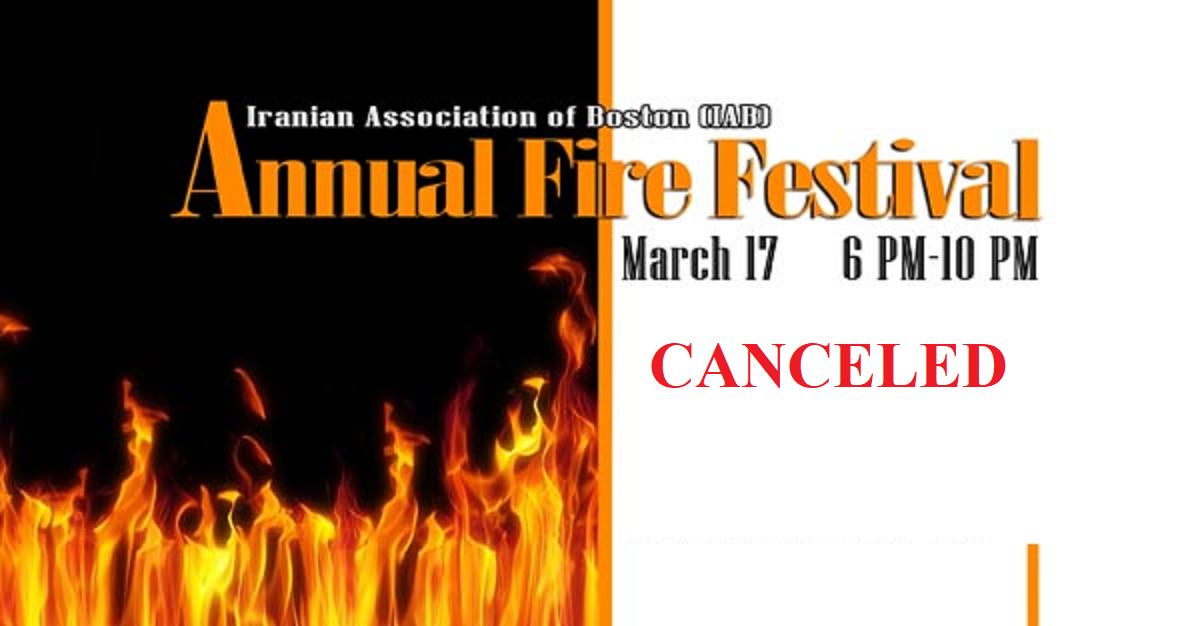 Annual Fire Festival (4 Shanbeh Soori) - CANCELED